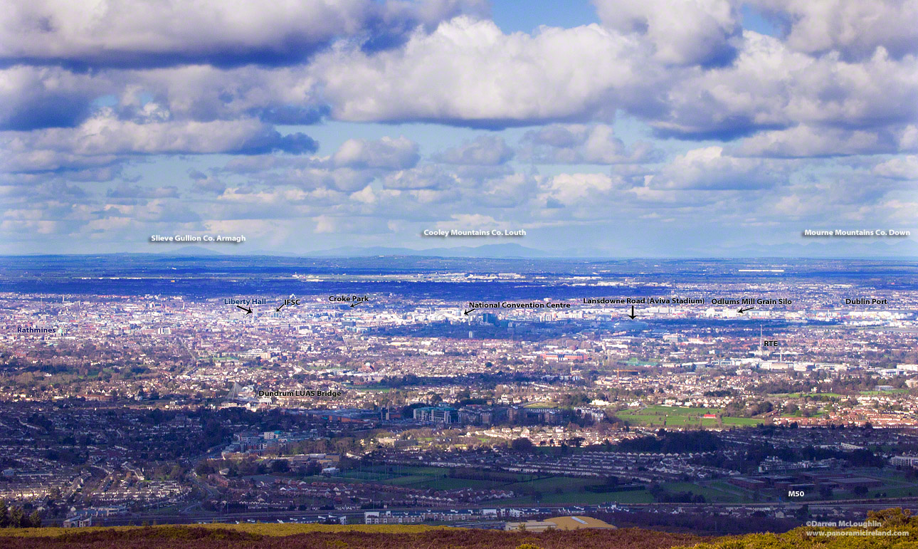 A view over Dublin, Ireland