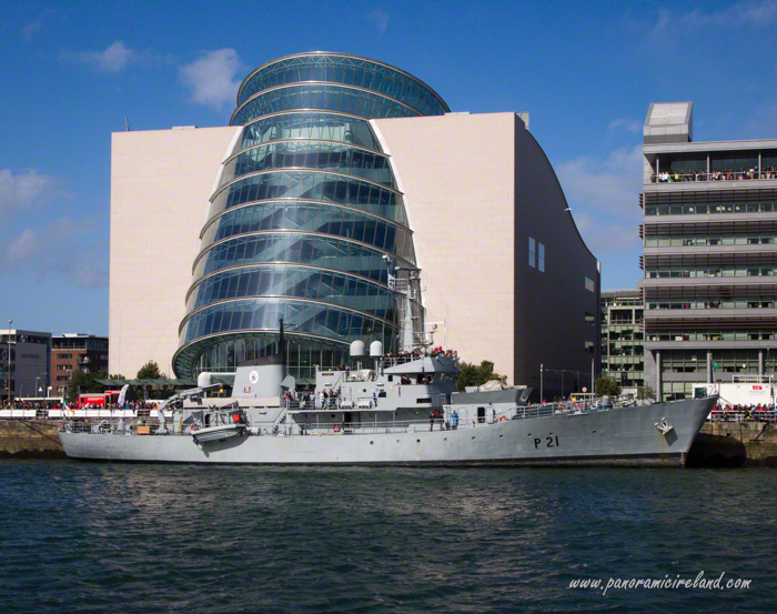 LE Emer Irish Defence Forces Ship on Liffey