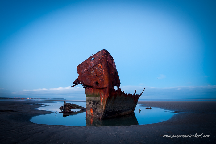 How the Irish Trader shipwreck looks in early 2014