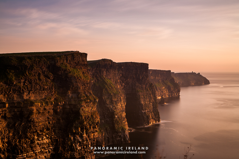 Sunset at the Cliffs of Moher, County Clare, Ireland