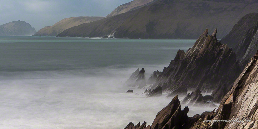 Colour and waves on the Wild Atlantic Way in Dingle, west of Ireland