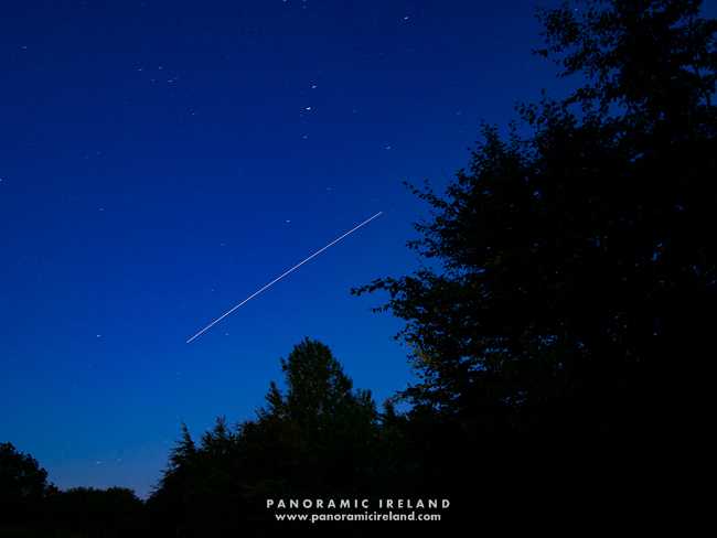 Internation Space Station (ISS) passing through the night sky over Ireland