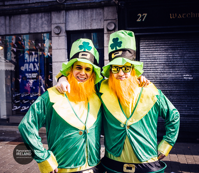 Smiling faces from Galway on Saint Patrick's Day
