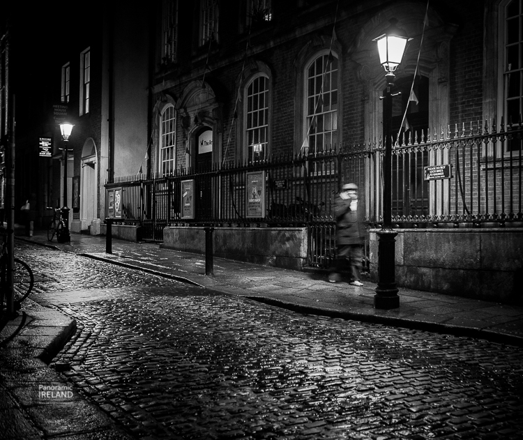 Noir black and white street photography from the streets of Dublin