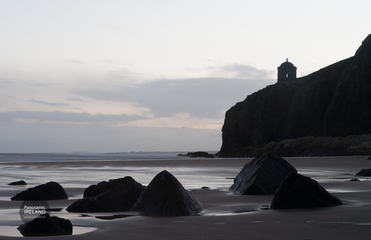 Mussenden Temple sits above the beach at Benone. Fans of Game of Thrones will recognise this location.