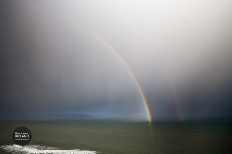 Double rainbow over the North Atlantic from the Northern Irish coastline