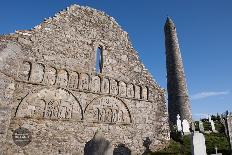 Ardmore cathedral and round tower ruins in County Waterford, Ireland