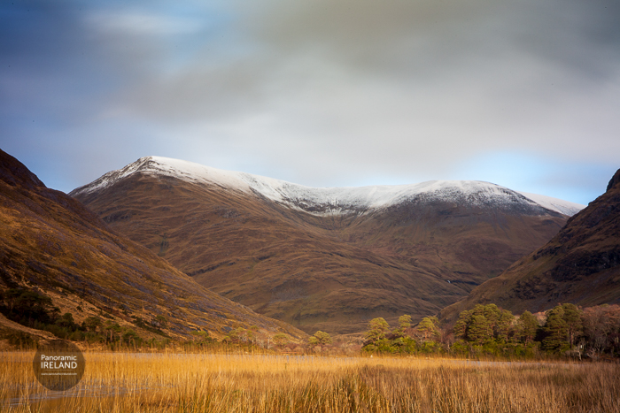 A touch of snow in the mountains of County Mayo, Ireland