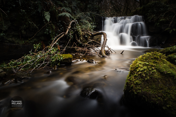A lush winter waterfall from the west of Ireland