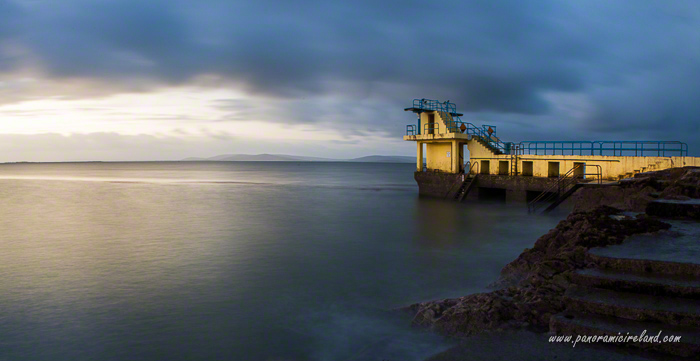 Blackpool diving tower panorama, Salthill Co. Galway