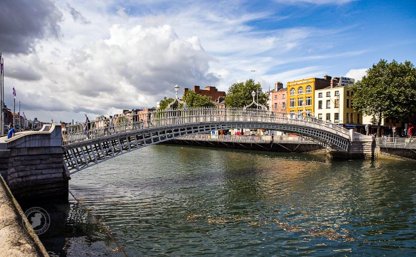 Dublin's Ha'penny Bridge is the city's most famous river crossing