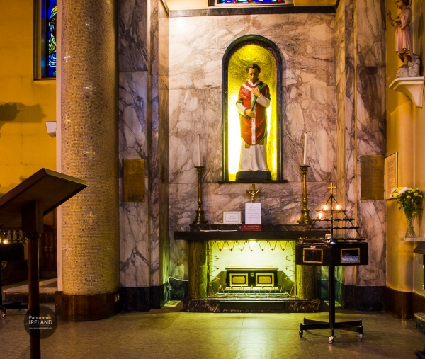 Saint Valentine's Shrine in Whitefriar Street Church, Dublin, Ireland