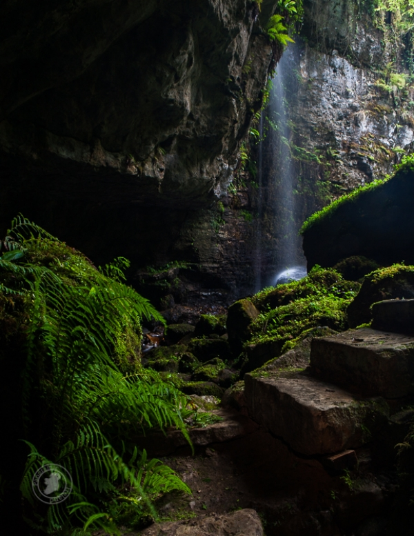 The Waterfall in the Cave