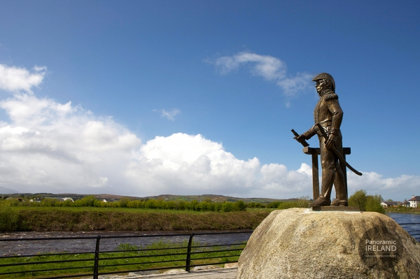 Statue of Admiral William Brown, of the Argentine navy in Foxford, County Mayo, Ireland