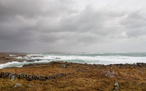 Stormy weather on Ireland's Wild Atlantic Way - a rough place in which to live