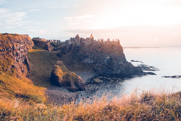 County Antrim's Dunluce Castle is a key part of the Causeway Coast seen in moody lighting
