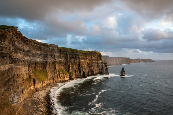 Ireland's majestic Cliffs of Moher at sunset