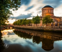 Dublin's Four Courts and River Liffey