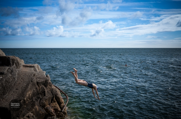 Swimmers at the Forty Foot, Dublin, Ireland