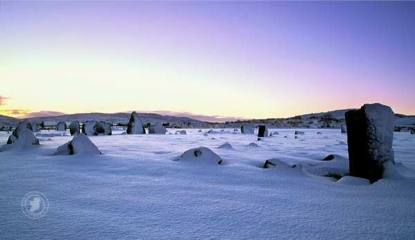 Stone Circles in Snow, Ireland