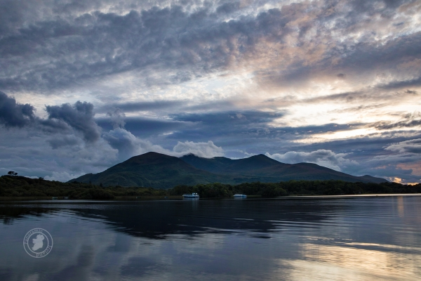 Lough Leane, Killarney on a cloudy sunset, Ireland