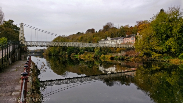 Cork's famous Shakey Bridge officially known as Daly's Bridge across the calm River Lee with reflections