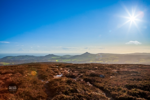 View of the Sugarloaf in Wicklow and the Irish Sea beyond