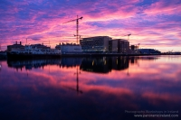 Sunrise over the River Liffey on a Cloudy Morning, Dublin