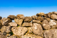 Traditional Irish stone wall from County Galway