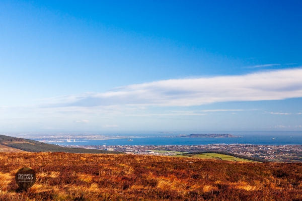 View Over Dublin, the bay and Irish Sea