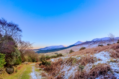 Green Roads and Snowy Landscapes in Ireland