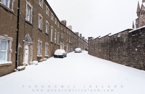 Snow in Vicar's Hill, Armagh, Ireland March 2018 brought by Storm Emma and Beast from the East
