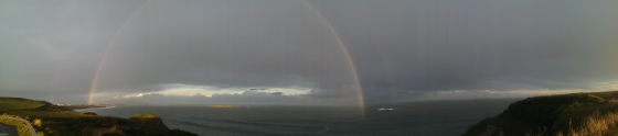Double Rainbow over the Antrim Coast